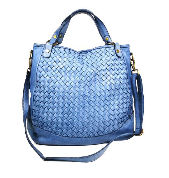 Woven leather tote bag CAMILA - Republica Toscana Bags