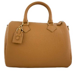 Leather duffel bag SANDRA - Republica Toscana Bags