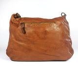 Leather shoulder bag with pockets - MELISSA - Republica Toscana Bags