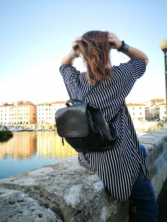 Leather backpack MANUELA - Republica Toscana Bags