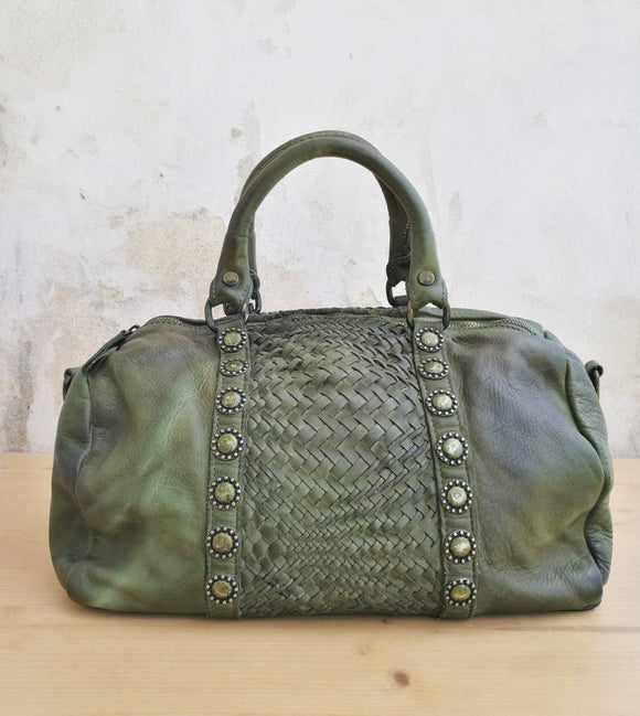 Leather duffel bag DANIELA