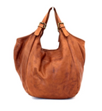 Leather big hobo bag SUSANA