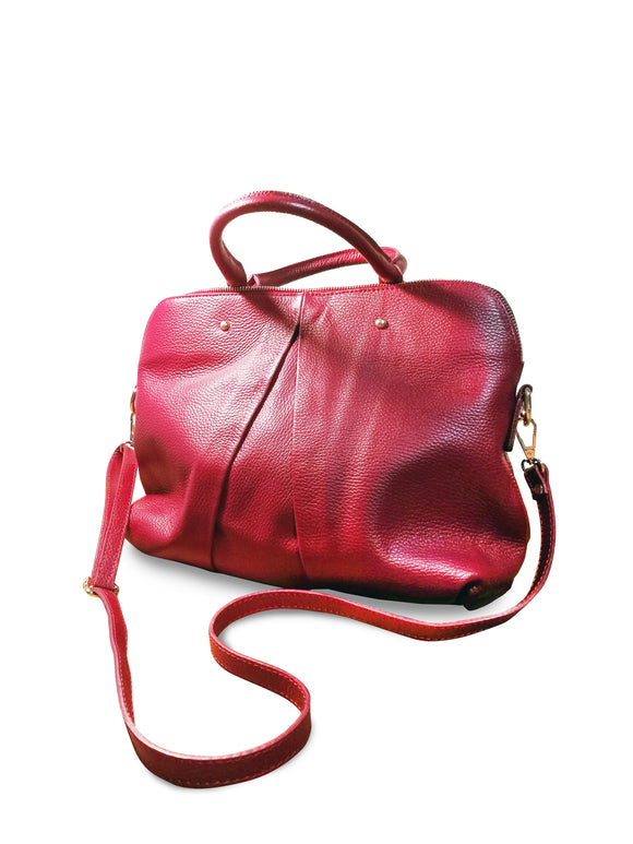 Leather handbag VICTORIA - Republica Toscana Bags