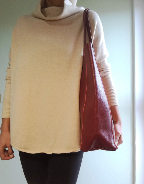 Leather shopper bag JANINA