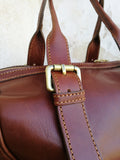 Leather bauletto bag OLIVIA