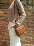 Small woven leather bag CORINNE