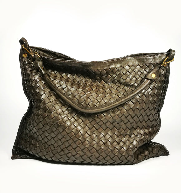 Woven leather envelope bag ANDREA - Republica Toscana Bags