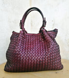 Woven leather bag LUCIA