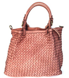 Woven leather bag LUCIA - Republica Toscana Bags