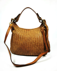 Woven leather crossbody bag ALESSANDRA - Republica Toscana Bags