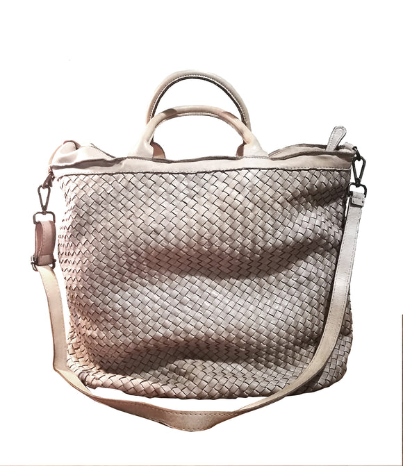 Woven leather tote bag MARIANA - Republica Toscana Bags