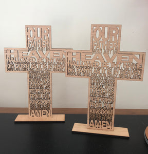 Lord's Prayer - laser cut timber