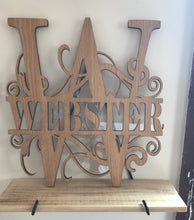 Load image into Gallery viewer, Split Monogram House Sign - Custom Made