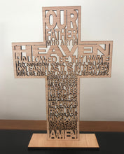 Load image into Gallery viewer, Lord's Prayer - laser cut timber