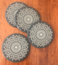 Load image into Gallery viewer, Round slate drinks coasters