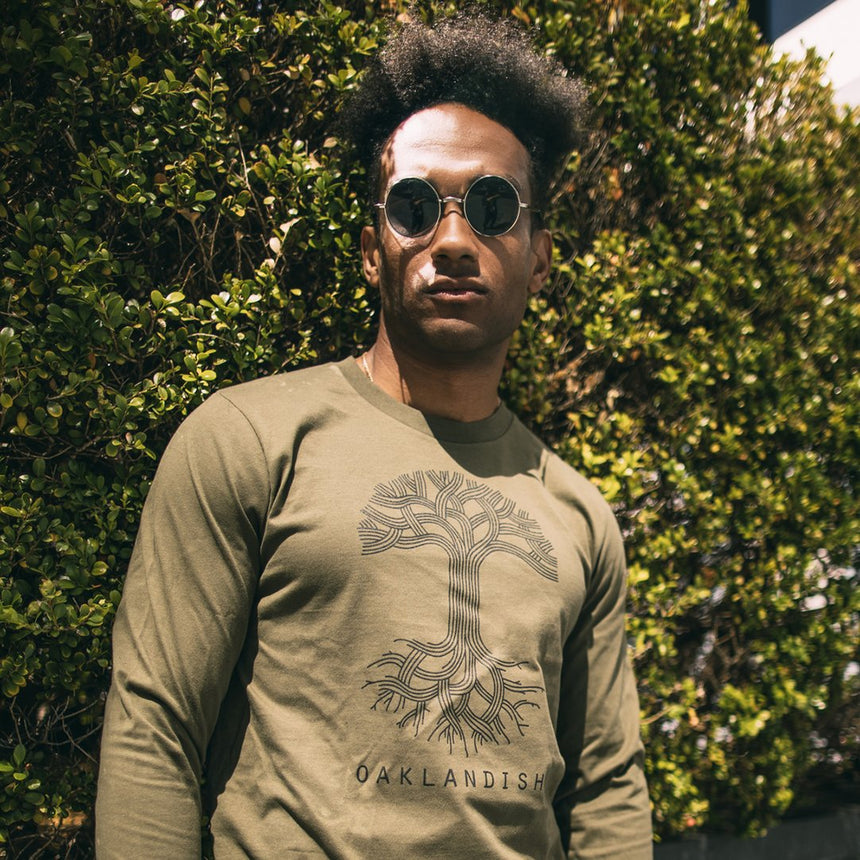 Oaklandish Classic Logo Long Sleeve in Army