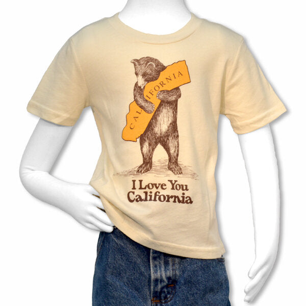 California Bear Hug Kids Tee in Natural