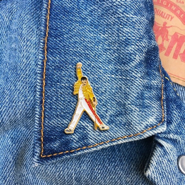 The Found Freddie Yellow Pin