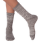 Women's Soft & Dreamy Crew Socks in Gray and Black