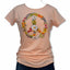 Women's Daisy Peace Sign Tee in Peach