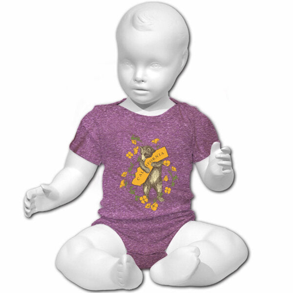 California Bear Hug Onesie in Purple Heather