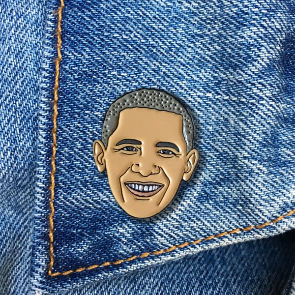 The Found Obama Pin