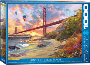 Sunset at Baker Beach by Dominic Davison 1000-Piece Puzzle