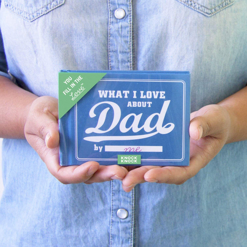 What I Love about Dad Fill in the Love Book Fill-in-the-Blank Gift Journal