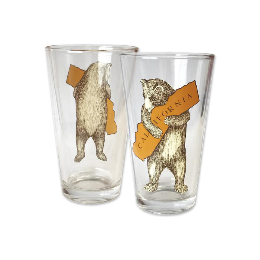 California Bear Hug Pint Glass