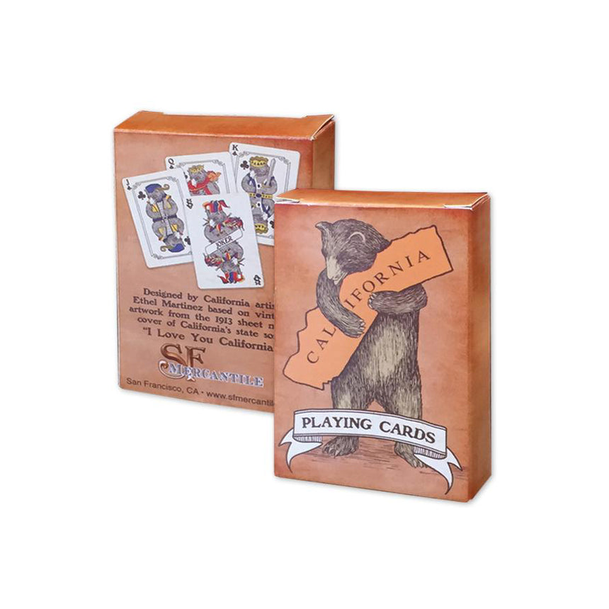 California Bear Hug Playing Cards