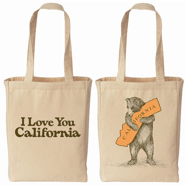 Small Cream California Bear Hug Tote