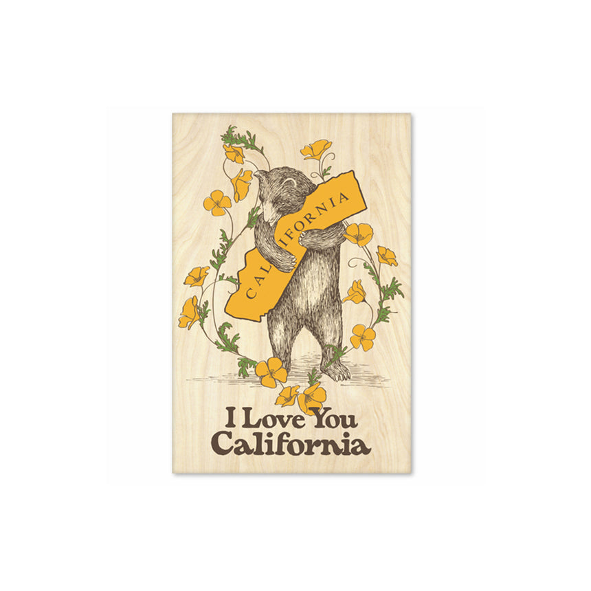 California Bear & Poppies Magnet