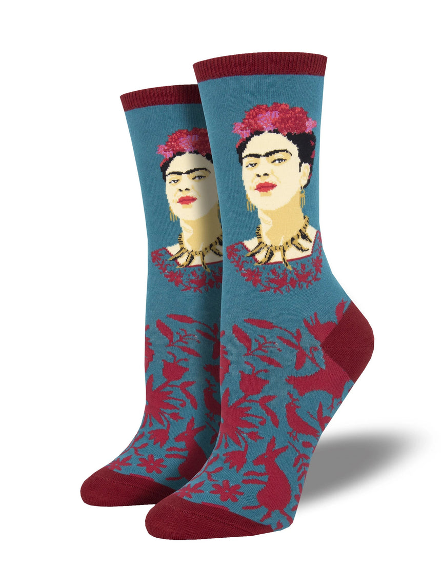 Women's Fearless Frida Teal Socks
