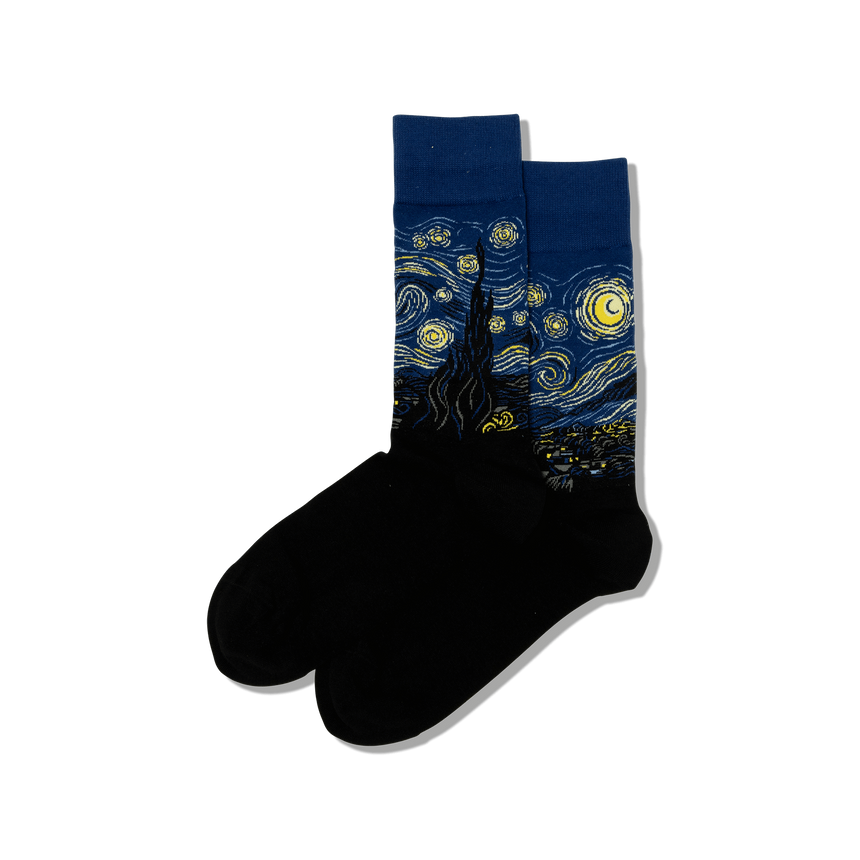Men's Van Gogh's Starry Night Socks in Blue