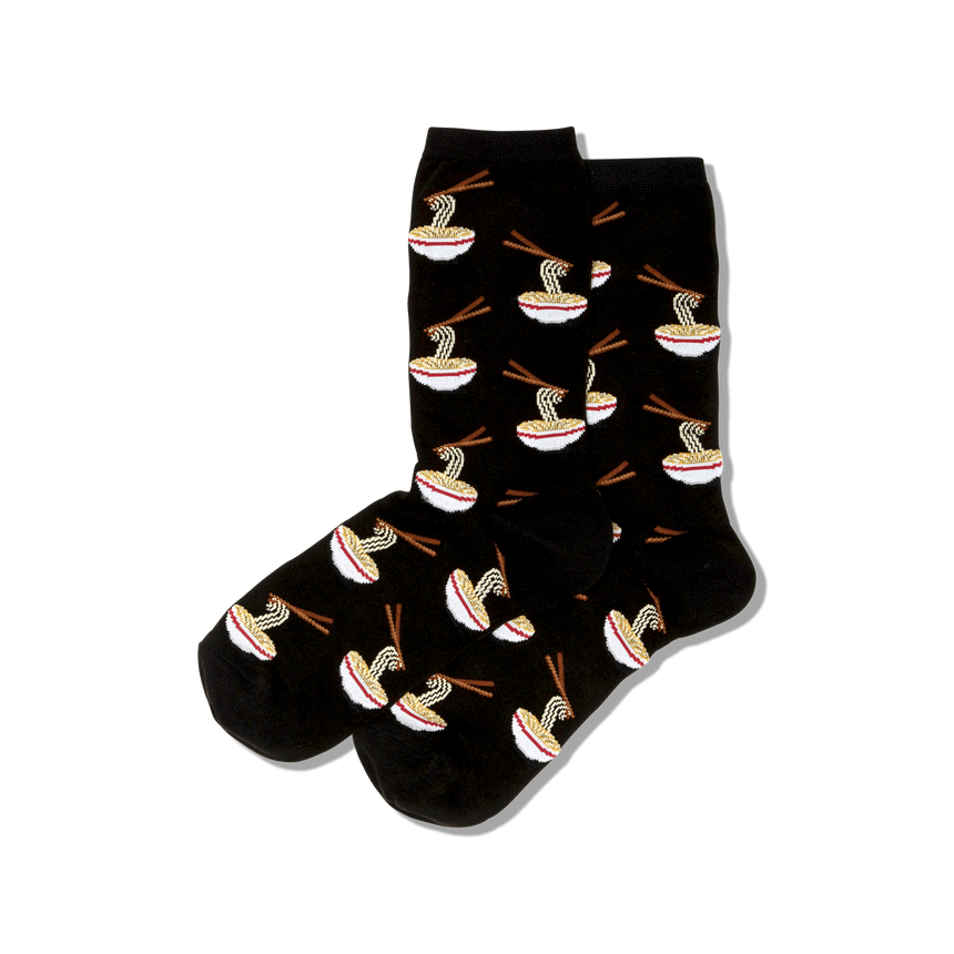 Women's Noodles Crew Socks in Black