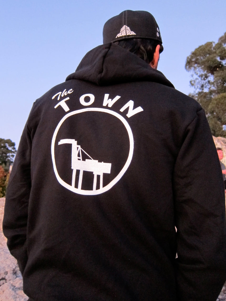 The Town Black Zip Hoodie