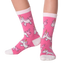 Kid's Unicorns Crew Socks in Pink