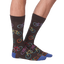 Men's Bright Bikes Crew Socks in Black