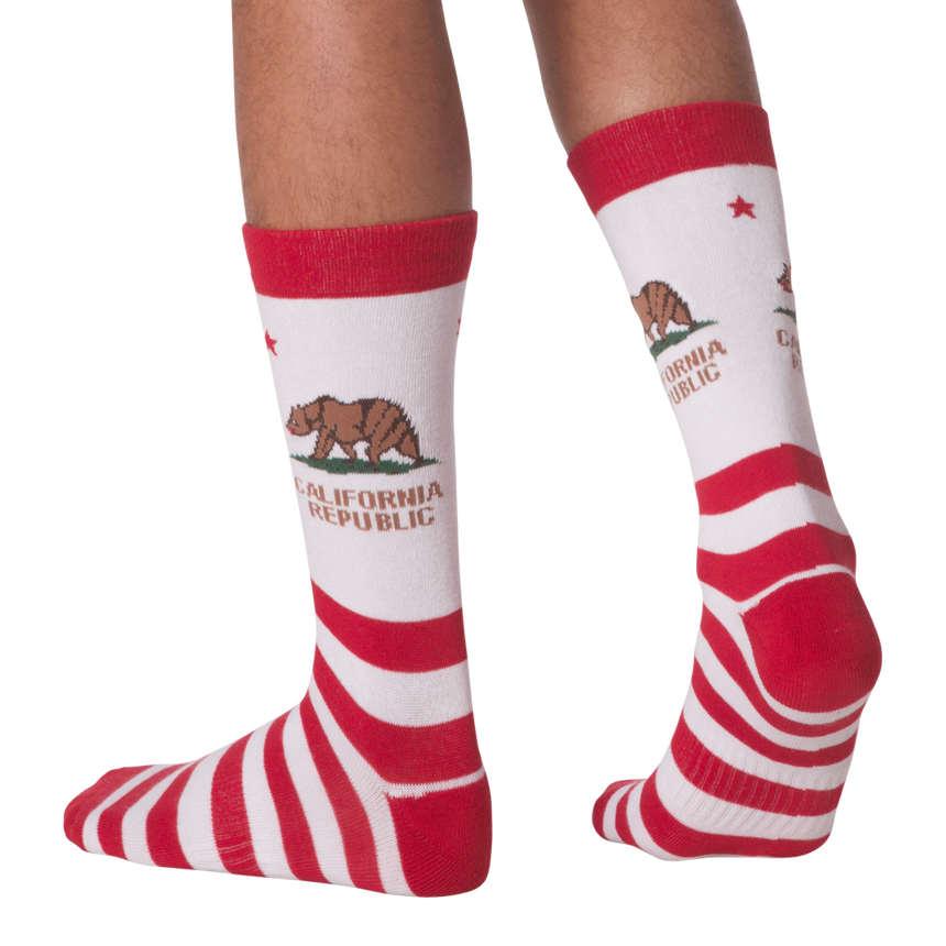 Men's CA Republic Crew Socks in White