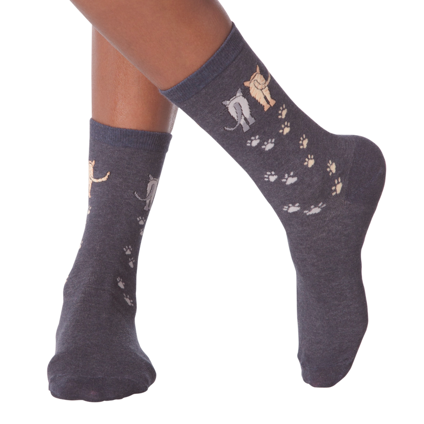 Women's Catwalk Crew Socks in Denim Heather