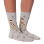 Women's Queen Bee Crew Socks in Gray Heather