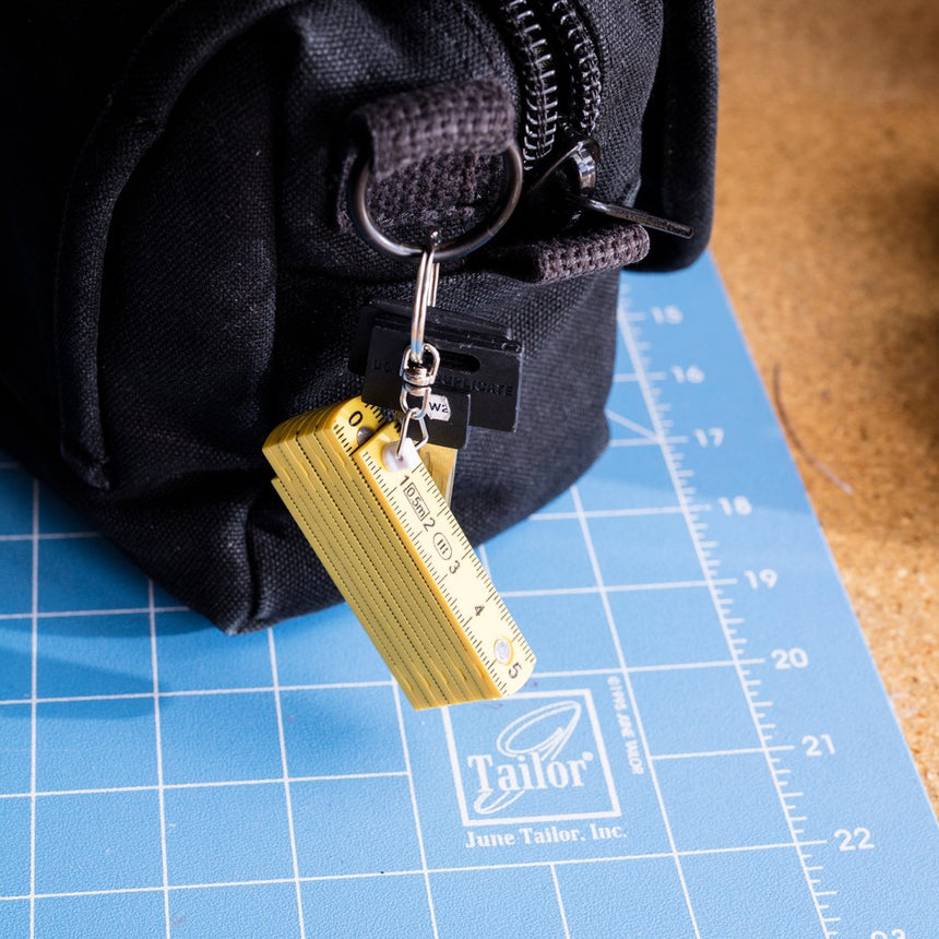 Mini Folding Ruler Keyring
