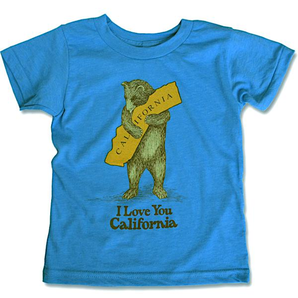 California Bear Hug Kids Tee in Blue