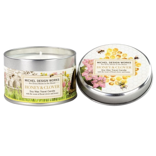Honey & Clover Soy Wax Travel Candle