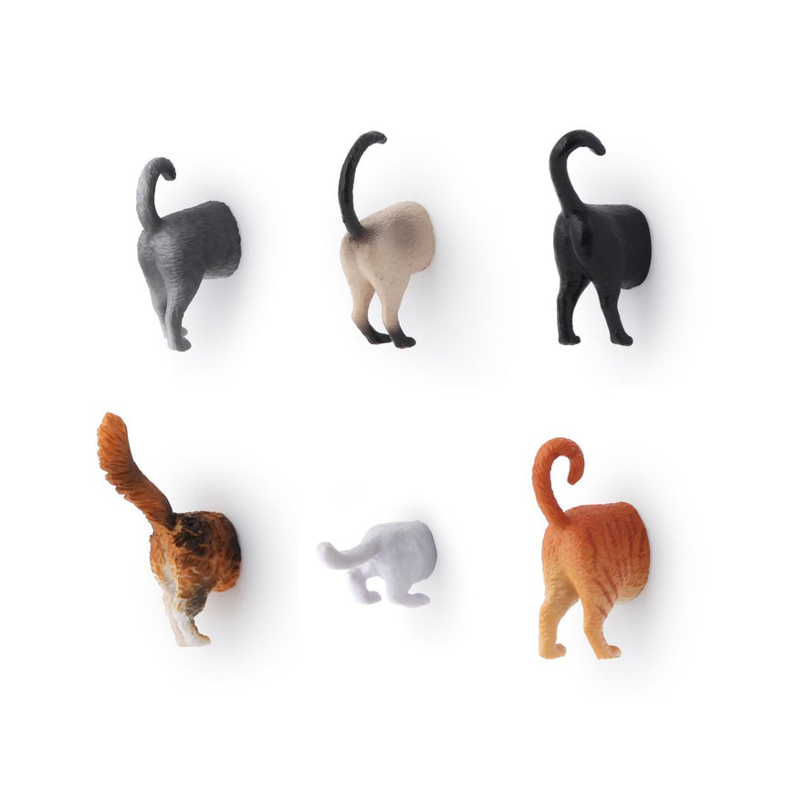 Cat Butt Magnet Set of 6