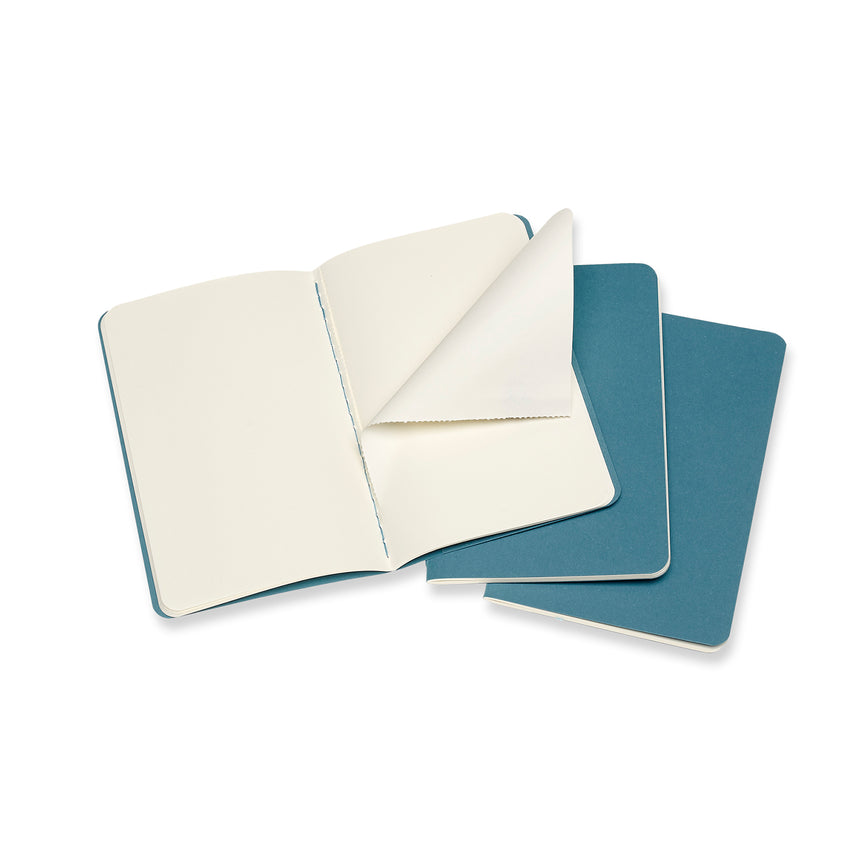 "Moleskine Cahier Plain Journals Teal Large (5"" x 8.25"") Set of 3"