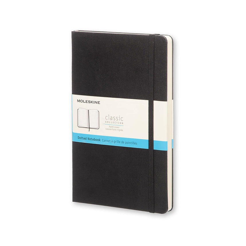 "Moleskine Classic Dotted Notebook Black Hard Cover Large (5"" x 8.25"")"