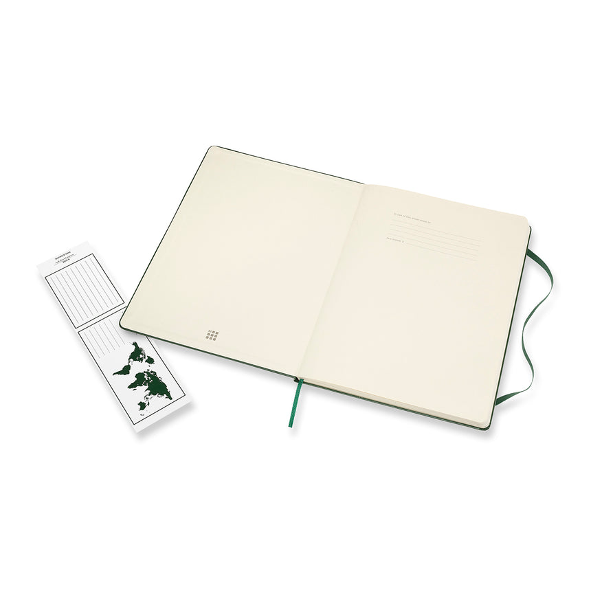 "Moleskine Classic Dotted Notebook Green Hard Cover XL (7.5"" x 9.5"")"