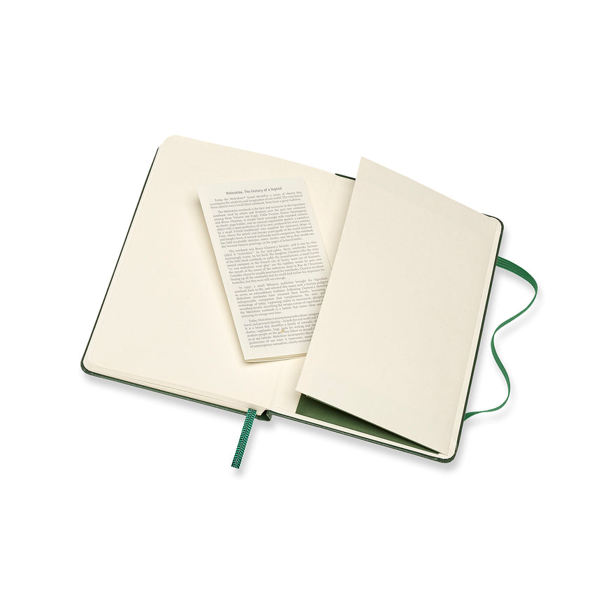 "Moleskine Classic Plain Notebook Green Hard Cover Small (3.5"" x 5.5"")"