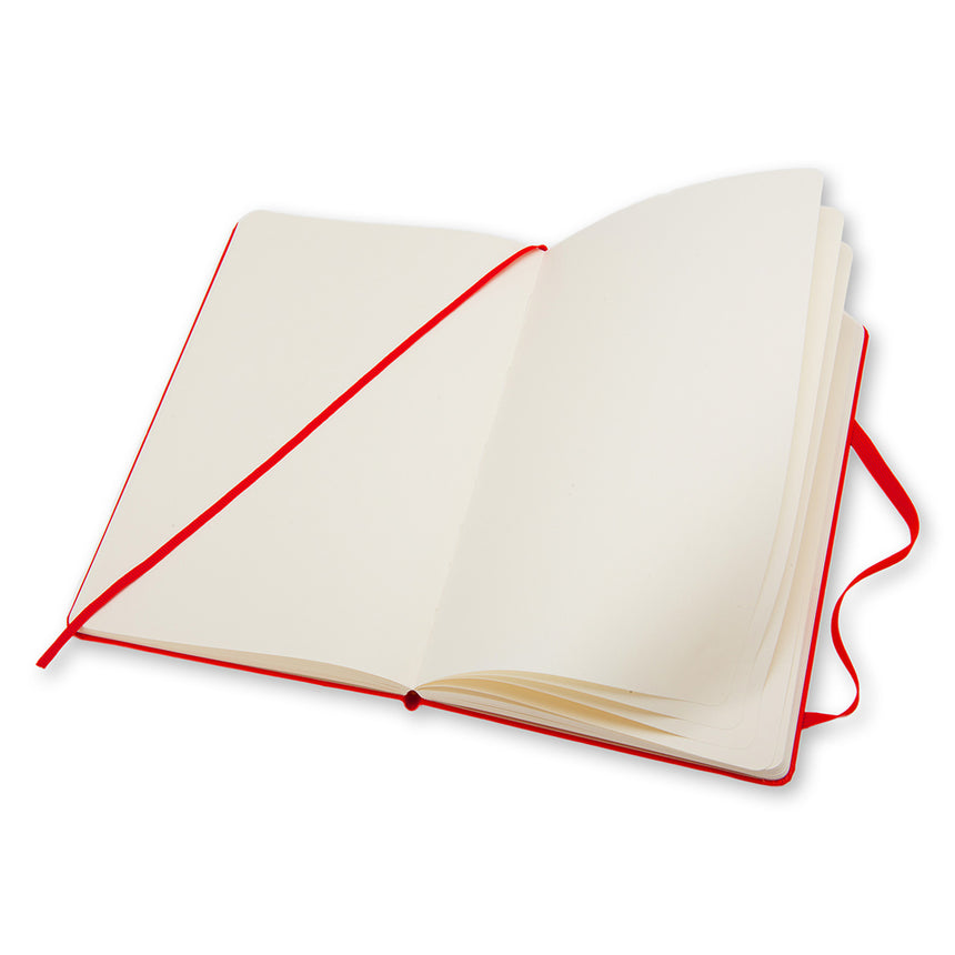 "Moleskine Classic Ruled Notebook Soft Cover Red Large (5"" x 8.25"")"